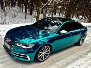 Audi Blau Chrom