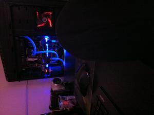 UV Licht in dunkel