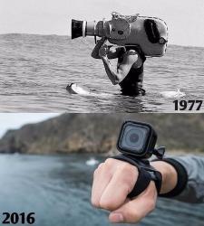 Videokamera 1977 und 2016