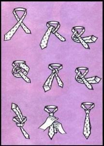 Krawatte umzubinden